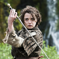 Picture of Maisie Williams as Arya Stark
